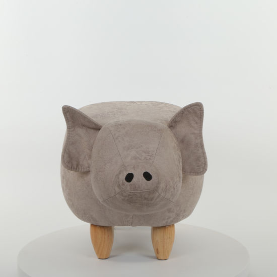 China Home Furniture Pig Shoes Changing Wooden Stool Chair