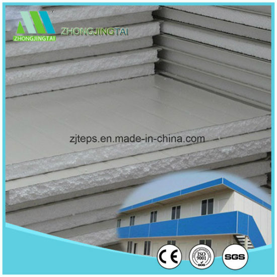 Metal Building Material EPS/Rock Wool/Glass Wool/PU Sandwich Panel for Wholesaler pictures & photos