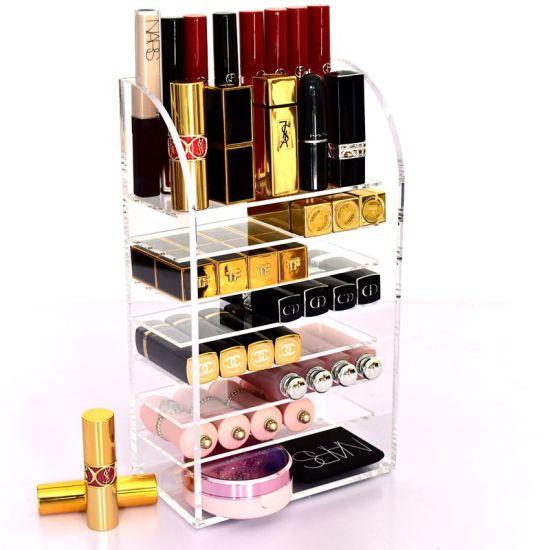 Free Standing Acrylic Makeup Cosmetic Display Rack