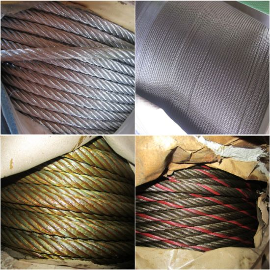 6X12 6X7 6X19 6X24 6X37 Galvanized Steel Wire Rope Wire Cable DIN3055 pictures & photos
