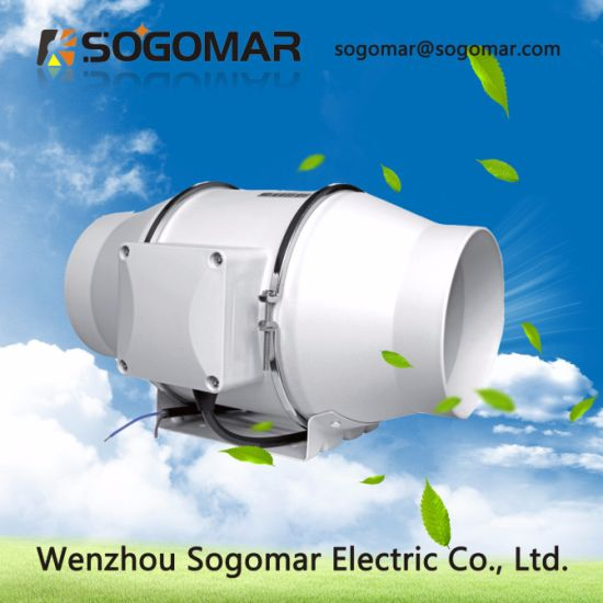 Good Quality Dia 125mm 220-240V 58W 650m3/H 2550r/Min Mute Exhaust Fan for Public Site