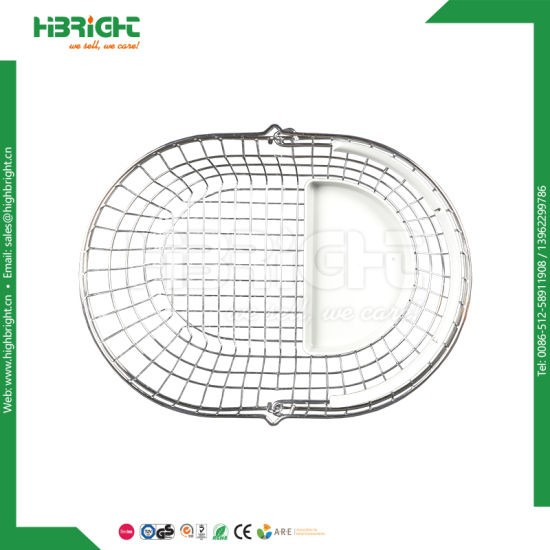 Single Handle Wire Oval Shopping Basket pictures & photos