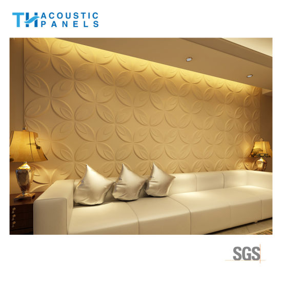 China Water Proofing Polyester Fiber Interior Decorative 3D Wall ...