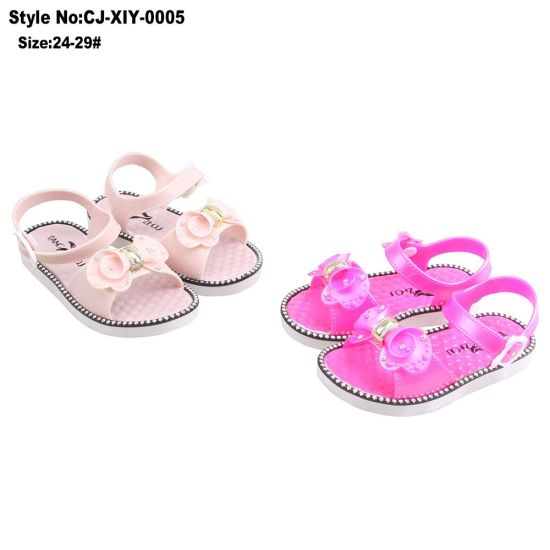 e1d7624b5 China Cheap Colorful Children Girls Lovely Plat PVC Sandals - China ...
