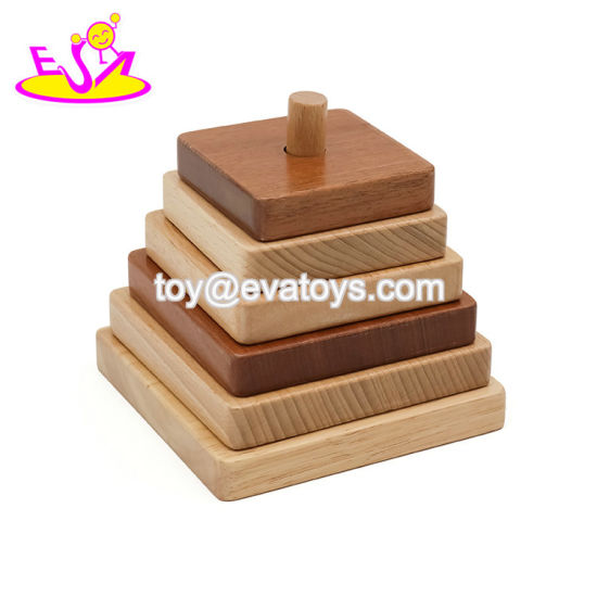 China 2019 Top Sale Educational Stacking Game Wooden Baby Blocks For