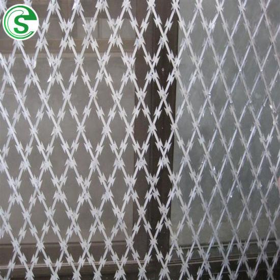 Factory Wholesale Price Steel Concertina Blade Razor Barbed Wire