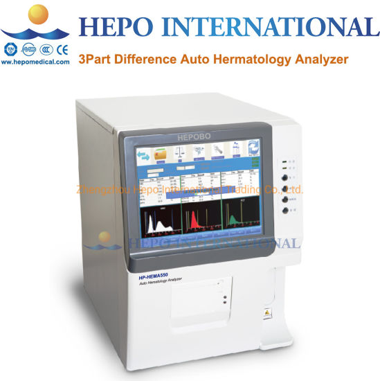 Clinic Popular Automatically 3 Part Difference Hematology Analyzer with Ce  (HP-HEMA550)