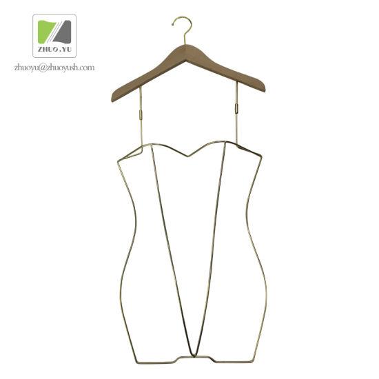 Custom Metal / Wooden Swimwear Hanger for Clothes Branded Showroom Shop