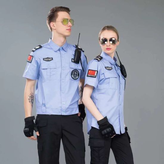 China OEM Summer Blue Security Guard Uniform Military Uniform Work Uniform Factory - China Security Uniform and Security Guard Uniform price