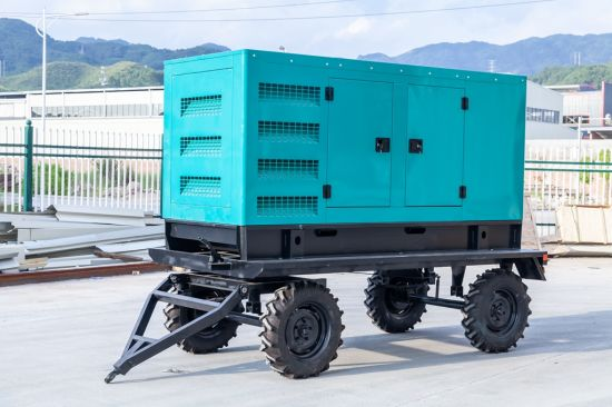 20kw China Weifang Portable Generator Set with Wheels