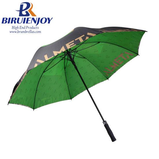 China Factory Custom Giant Large Double Canopy Rain Golf Umbrella by Digital 30 Inch