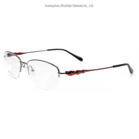 Popular High Quality Factory Custom New Design Glasses Eyewear Women Metal Optical Eyeglass Frame