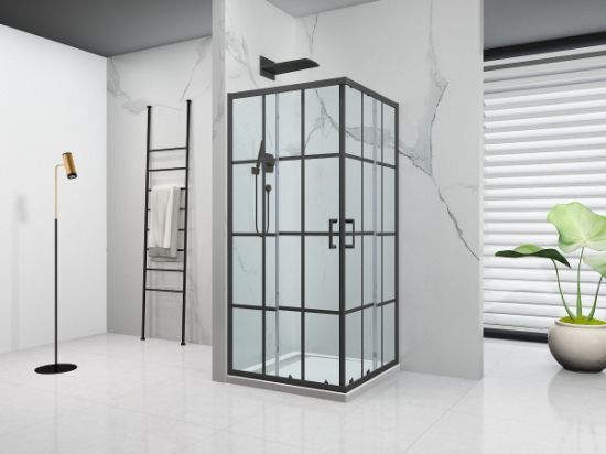 Best Seller Economic Series Glass Shower Enclosure with Lattic Printed