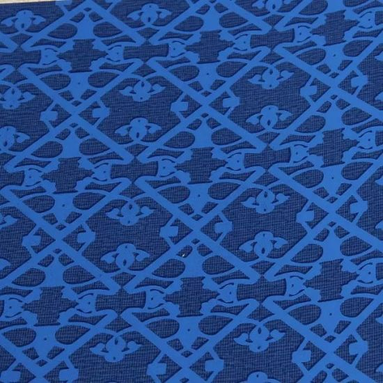 Blue Colour PVC Wallpaper with Best Selling in China