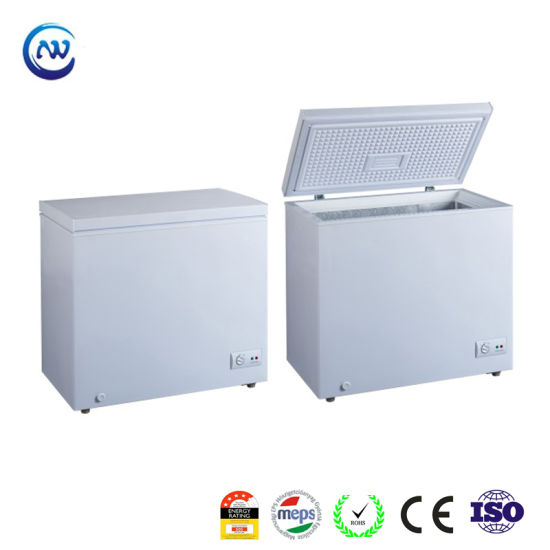 200L Commercial Single Open Door Deep Fridge Supermarket Chest Freezer with Gems Meps Approved HD-200
