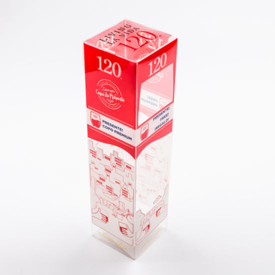 High Quality Custom Clear Folding PVC Package Plastic Box for Champagne Packing