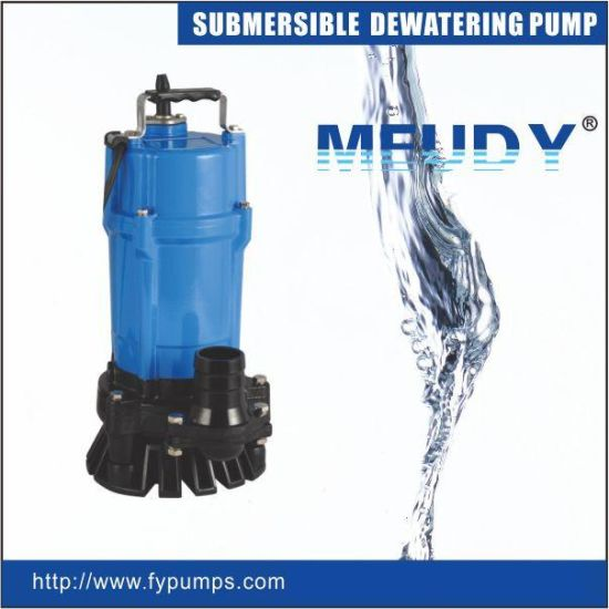 Non-Clog Semi Vortex Submersible Portable Dewatering Pump with Agitator for Mud Water & High Viscosity Fluid pictures & photos