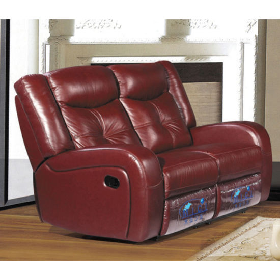China Promotion Red Leather Recliner Sofa 6020 China Electric