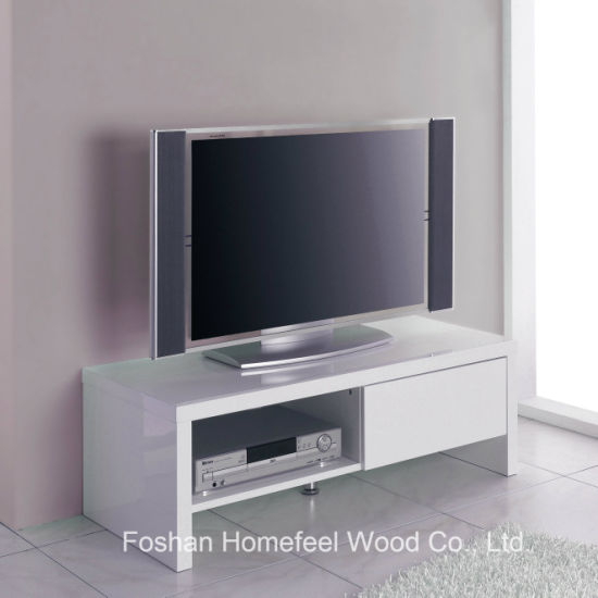 China Sturdy Wooden White High Glossy Tv Stand Cabinet Tvs29