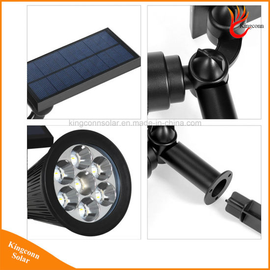7LED RGB Solar Spot Light for Outdoor Garden Landscape Lawn pictures & photos