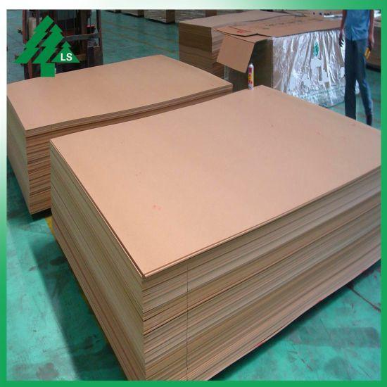 China Light Brown Raw/Plain/Veneer/Waterproof/Hmr/Melamine MDF for