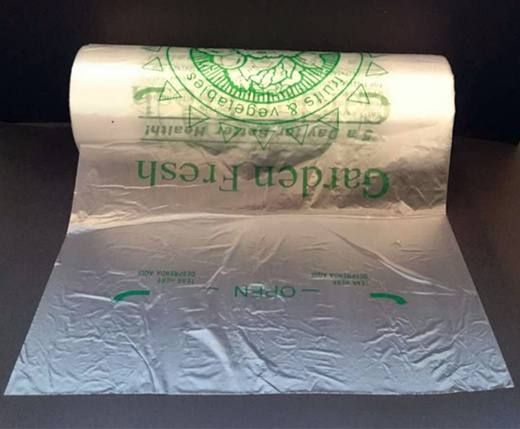 Fruit and Vegetable Flat Bags on Roll / Produce Bag / Poly Bag