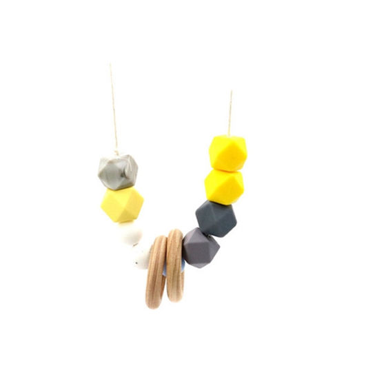 4 Necklaces Baby Teether Teething Nursing Jewelry Green Yellow Turquoise Orange
