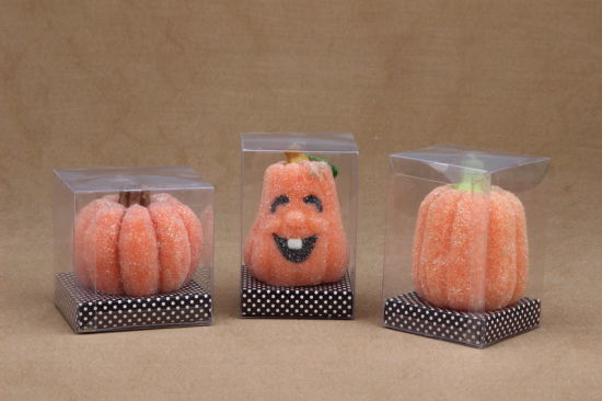Cute Pumpkin Shape Halloween Candle with PVC Box