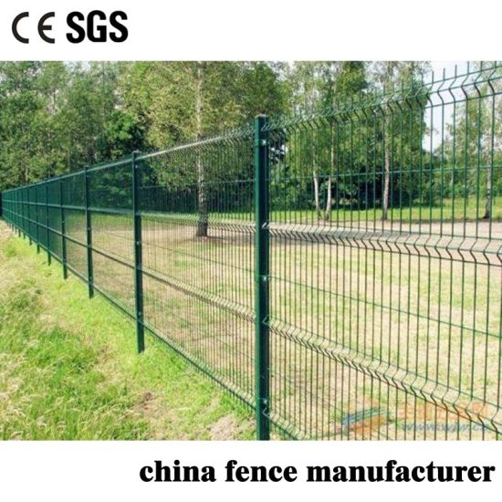 Anti Climb PVC Coated Low Carbon Wire Welded Triangle Wire Mesh Panel Fencing for Farm