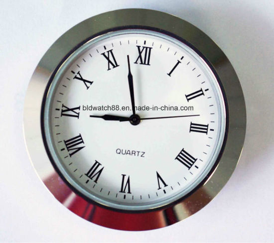 Cheap Mini Quartz Clock Inserts Silver Small Metal Clocks Gift pictures & photos