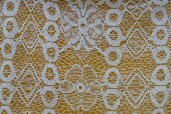 Fashion White Soft Material Lace Fabric Embroidery for Africa Lady Dress Ls10032