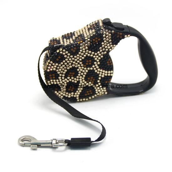 Dog Leash with Jewel Dog Products Retractable Dog Leash