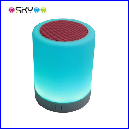 LED Touch Lamp Wireless Bluetooth Speaker Smart Music Light pictures & photos