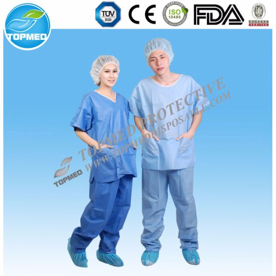 Eo-Sterilized or Not Isolation Gown/Surgical Gown for Nurses, Patients