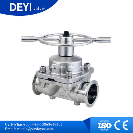 Stainless Steel Sanitary Pneumatic Diaphragm Valve (DY-V101) pictures & photos
