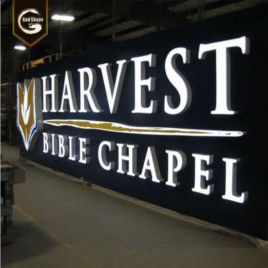 Coated Stainless Steel LED Sign Light Box Backlit Channel Letters
