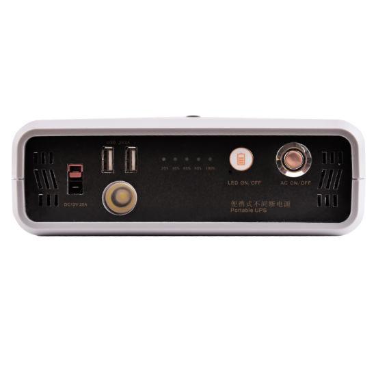 Portable 300W Mini UPS Lithium Battery 12V 26ah Uninterruptible Power Supply pictures & photos