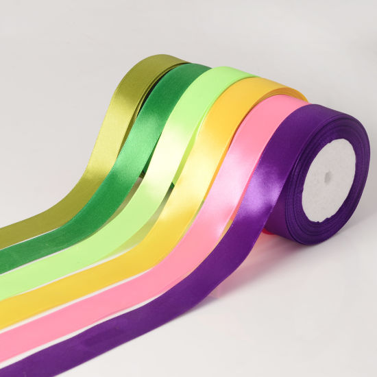 """Personalized 1"""" 25mm Single Face Satin Ribbon for Gifts Wrapping and Party Decor Wholesale"""