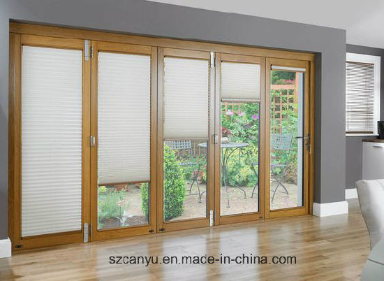 Wood Double Sliding Window with Double Track Door pictures & photos