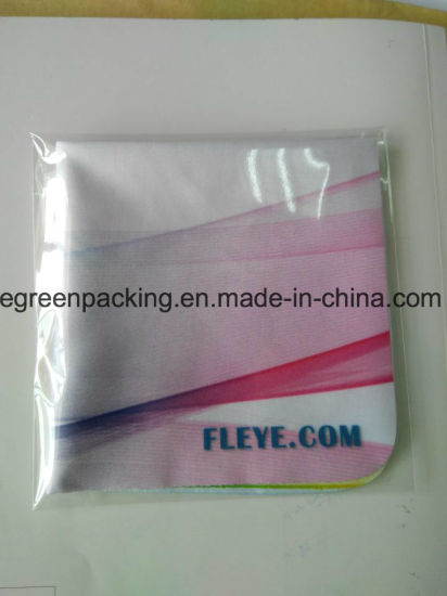 OEM Custom Image Print Microfiber Glasses Cleaning Cloth pictures & photos