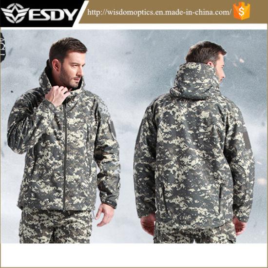 Military Winter Outdoor Camping Hiking Waterproof Fleece Hoodie Tactical Jacket
