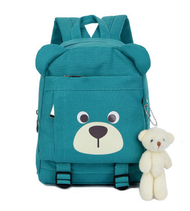 Five Colors Backpack Waterproof Canvas Backpack Bear Backpack School Bag Yf-Sbz2219 pictures & photos