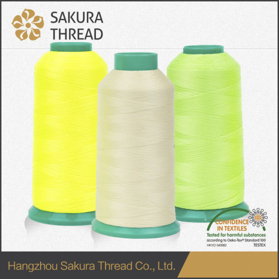 Oeko-Tex100 1 Class Polyester Luminous Thread for Machine Embroidery pictures & photos