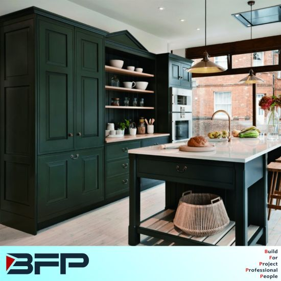 China Home Furniture Cupboard Jasper Color Kitchen Cabinets - China ...