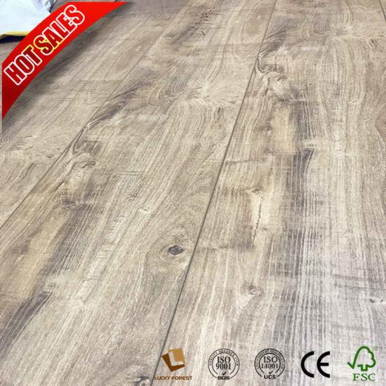 China Beveled U Groove Ac3 E1 Laminate Flooring 12mm China