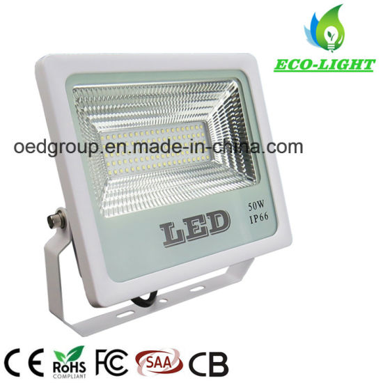 New Ultra-Thin Stadium, Park Lighting 50W IP66 Outdoor Waterproof SMD2835 LED Floodlight with 3 Year Warranty