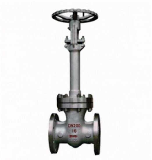 Dz40y Flange Cryogenic Brake Gate Valve pictures & photos