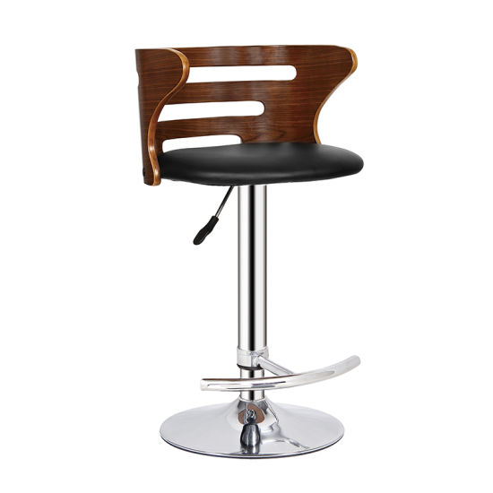 Restaurant Dining Coffee Furniture Swivel Wooden Bar Stools Chair (FS-WB952)