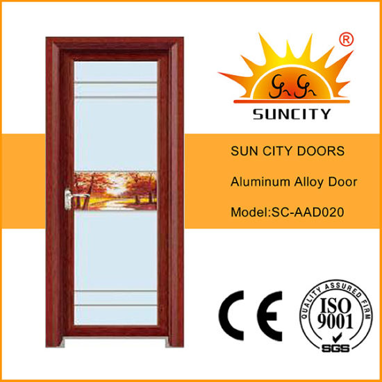 China Bedroom Doors Design Aluminium Frosted Glass Door China