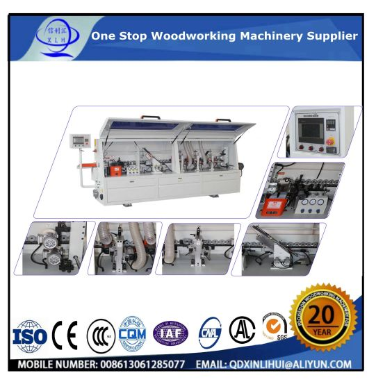 Mf-506 Automatic Wood Edge Banding Machine with Buffing, Scraping, Fine  Triming, Rough Triming, End Triming, Gluing, Drilling, Corner Triming,